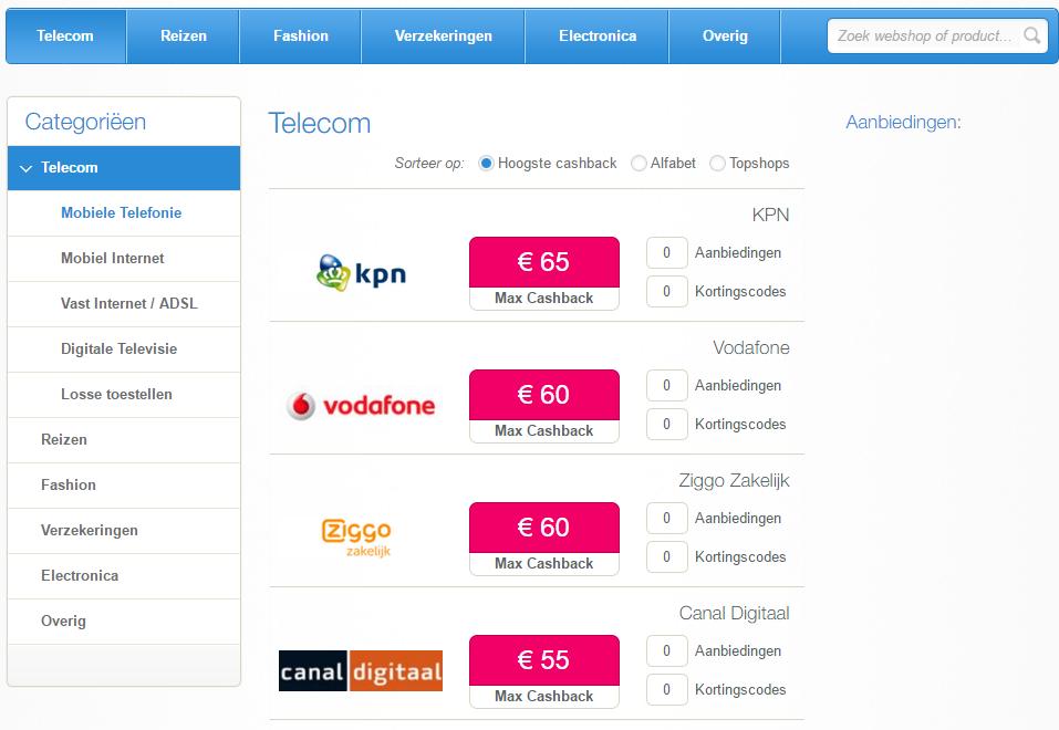 telecom cashbackxl